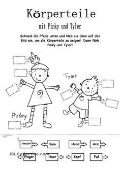 Körperteile mit Pinky und Tyler
