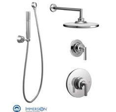 View the Moen 925 Pressure Balanced Shower System with Rain Shower, Diverter, and Hand Shower from the Arris Collection (Valves Included) at FaucetDirect.com.