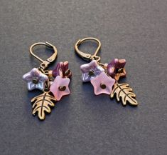 Beautiful+pink+violet+and+purple+Czech+by+LazyDaisyCatJewelery,+£6.00
