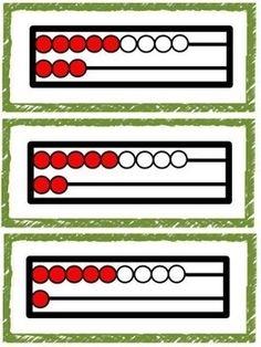 Rekenrek: flitskaarten, lesjeskaarten en opdrachtkaarten