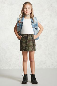 Forever 21 is the authority on fashion & the go-to retailer for the latest trends, styles & the hottest deals. Girls Fashion Clothes, Kids Fashion Boy, Kids Outfits Girls, Tween Fashion, Cute Outfits For Kids, Little Girl Fashion, Girl Outfits, Fashion Outfits, Camo Outfits