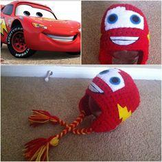 Crochet Lightning McQueen Beanie/Hat por Potterfreakg en Etsy, $18.00