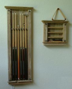 Rustic+Western+Style+Pool+Que+&+Pool+Ball+Rack+by+PennysPost,+$385.00