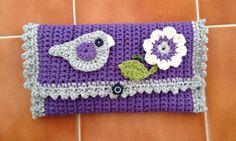 Could be a diaper clutch pattern.... crochet hook case free pattern