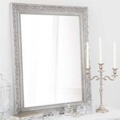 paulownia wood mirror in silver H Wood Mirror, Decoration, Oversized Mirror, Sweet Home, Lights, Inspiration, Living Room, House, Furniture