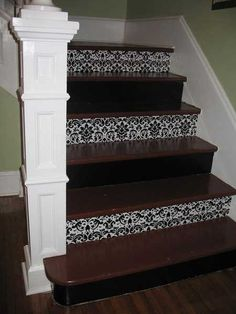 1000 images about stair risers decorating ideas on - Stair riser decoration ideas ...