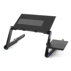 Lagute Adjustable Folding Ventilated Laptop/Notebook /Tablet/iPad Table Desk/ Portable Bed Tray Book Stand, Mousepad Attached