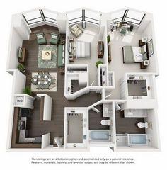 Suite A Floorplan #GreatHomeDecorIdeasForTheBedroom