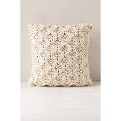 Chunky Cotton Knit Pillow (63 CAD) ❤ liked on Polyvore featuring home, home decor, throw pillows, cream throw pillows, ivory throw pillows, urban outfitters and beige throw pillows