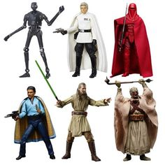Star Wars The Black Series 6-Inch Action Figure Wave 11 Case.   Case contains 6 individually packaged action figures:  1x SW R1 K2SO 1x SW R1 DIRECTOR KRENNIC 1x SW E5 LANDO CALRISSIAN 1x SW E1 QUI GON JINN 1x SW E4 TUSKEN RAIDER 1x SW E6 IMPERIAL ROYAL GUARD (subject to change)