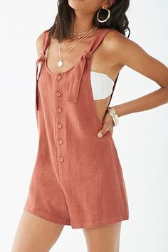 Forever 21 has the most coveted designs in Rompers + Jumpsuits! Shop the best one-piece rompers in cami and off-the-shoulder styles, try a culotte jumpsuit, or strap on a pair of denim overalls! Casual Wear, Casual Outfits, Cute Outfits, Fashion Outfits, Blue Skirt Outfits, Fashion 2020, 70s Fashion, Hippie Fashion, Mode Style