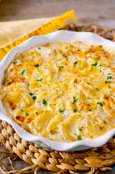 Creamy Scalloped Potatoes #justeatrealfood #deliciousmeetshealthy