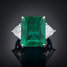 Emerald and Diamond Ring 16.14 Carats