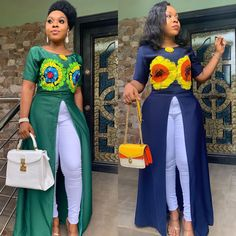 african fashion reen or blue whats your flavor ? reen or blue whats your flavor ? African Fashion Ankara, African Fashion Designers, Latest African Fashion Dresses, African Dresses For Women, African Print Fashion, African Attire, African Tops, African Men, Fashion Dress Up Games