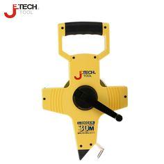 Jetech long abrasion resistant 30m 50m metric scale open reel long steel measure tape ruler scale for plumbing tool tools