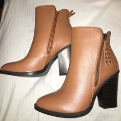 Ankle High Booties BRAND NEW!!! Never been worn, they were a gift but they didn't fit! Wild Diva Shoes Ankle Boots & Booties
