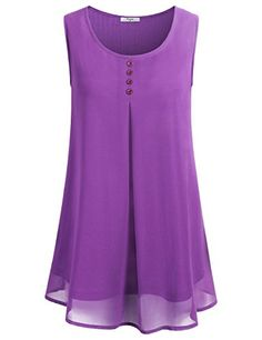 Special Offer: $26.99 amazon.com You'll always have a stylish match for your shorts and skinny jeans with this latest fashion blouse tank top by Cestyle Features: Sleeveless Crew neckline Shirttail hem pleated front and drape back Non-functional button embellished at chest US SIZE...