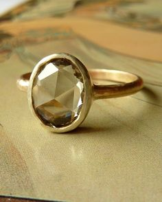 Beautiful olive green sapphire