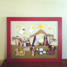 barefoot in the kitchen. felt nativity for christmas advent. Maybe this will be the year to make something similar! Christmas Family Feud, Christmas Games, Felt Christmas, Christmas Printables, Christmas Ideas, Christmas Things, Christmas Projects, Holiday Crafts, Holiday Ideas