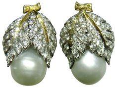 Uccellati pearl and diamond earrings c.1958