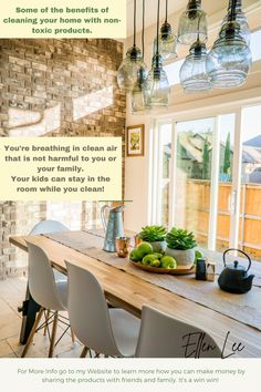 Most store-bought cleaners are going to be full of toxic chemicals that every time you use can seep into your bloodstream in 22 seconds. Over time this creates a body burdon and build up. After all, why would most of them have so many warning labels about not breathing in the fumes? Obviously this can't be good. Home Staging, Plywood Furniture, Dining Room Furniture, Bathroom Furniture, Rustic Furniture, Dining Room Design, Interior Design Kitchen, Interior Livingroom, Room Interior