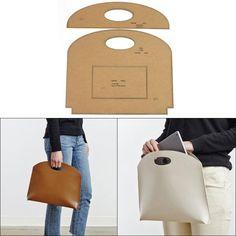 SAR 59.19 49% Off | Leather tools diy handmade leather goods crafting kraft paper template pattern ladies handbag tote bag version drawing mold