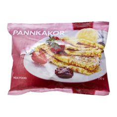 IKEA - PANNKAKOR, Pancakes, frozen, Pancakes are as good as a light meal as they are as a dessert. Heat and serve with raspberry or strawberry jam and a dollop of whipped cream.