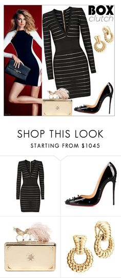 """""""Classy and Chic"""" by deborah-strozier ❤ liked on Polyvore featuring Balmain, Christian Louboutin, Alexander McQueen, John Hardy, women's clothing, women's fashion, women, female, woman and misses"""