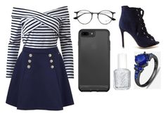 """""""Sans titre #1939"""" by merveille67120 ❤ liked on Polyvore featuring Tommy Hilfiger, Ray-Ban and Essie"""