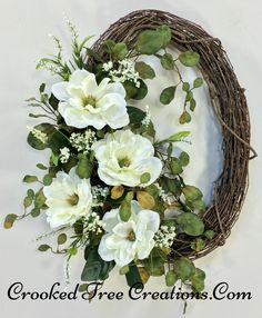 Magnolia Grapevine Wreath