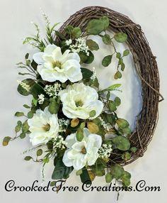 Magnolia Grapevine Wreath
