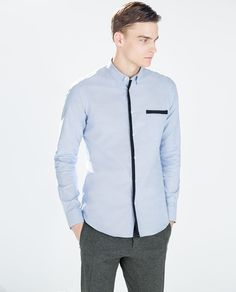 Image 1 of PLAIN OXFORD SHIRT from Zara