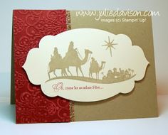 Julie's Stamping Spot -- Stampin' Up! Project Ideas Posted Daily: Classic Christmas: Clean & Simple Card