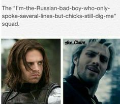 Accurate <---------------- Pietro isn't Russian, he is Sokovia, a Marvel country in Eastern Europe