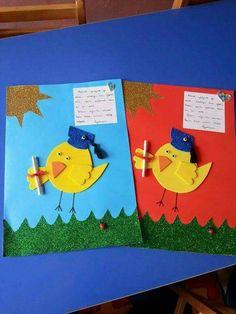 Ideas Preschool Art Activities, Preschool Lesson Plans, Summer Crafts For Kids, Art For Kids, School Results, Envelopes, Preschool Graduation, Envelope Art, School Decorations