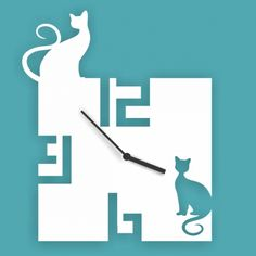 Laser cut cat clock template.  Biggest online store for laser cut patterns. Free laser cut designs every day