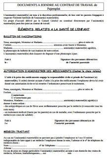 Rapport De Stage Et Fin Etudes Contrat Assmat Contrat Assistante Maternelle Modele Contrat De Travail