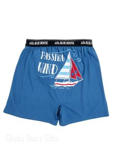 Hatley Men s Boxers PASSING WIND  Novelty Underwear sailboat Father's Day