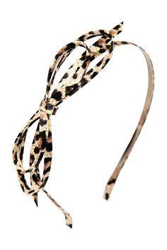 Leopard Fabric Bow Headband | Hats & Hairgoods
