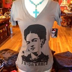 Image of Women's Frida Kahlo V Neck Tee