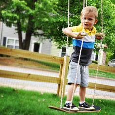 10 Kid-Friendly Ideas for Backyard Fun. build a swing using an old skateboard with your kid or have an outdoor movie night