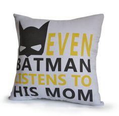 Nursery Decor Boy Room Pillow Cover Kids Room Decor Batman