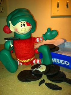 Christopher Pop-in-kins / Elf on the Shelf - eating all the Oreos!