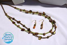 Earthy Necklace & Earring Set via Etsy