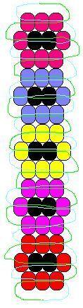 Flower Keychain pony bead pattern: