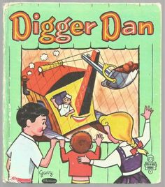 Vintage-Childrens-Tell-A-Tale-Book-DIGGER-DAN