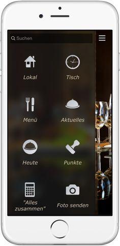 Mobile Marketing - Genau die richtigen Funktionen in der App für  Restaurant und Gastronomie http://nextvisionapps.com/de/online-demo-restaurant