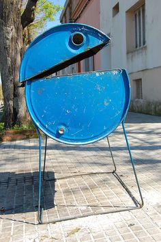 Pareidolia (faces at different locations). Hungry bin, om nom nom