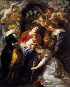 Peter Paul Rubens - The Crowning of St Catherine. Toledo Museum of Art