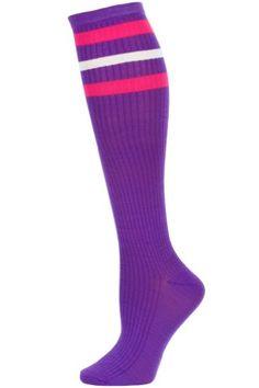 "4-8 Multicoloured /""Wild Thing/"" Print Design Women/'s Knee High Cotton Socks"